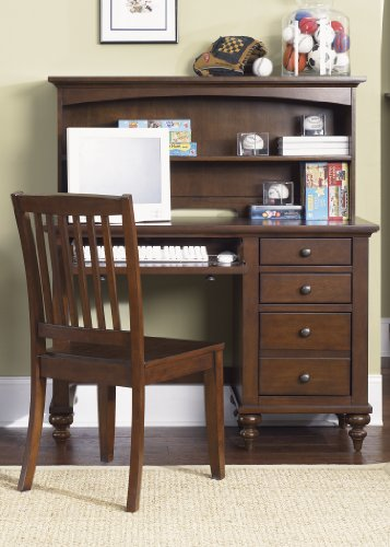 Liberty Furniture 277-BR70B Abbott Ridge Student Desk Base, 45'' x 18'' x 31'', Cinnamon by Liberty