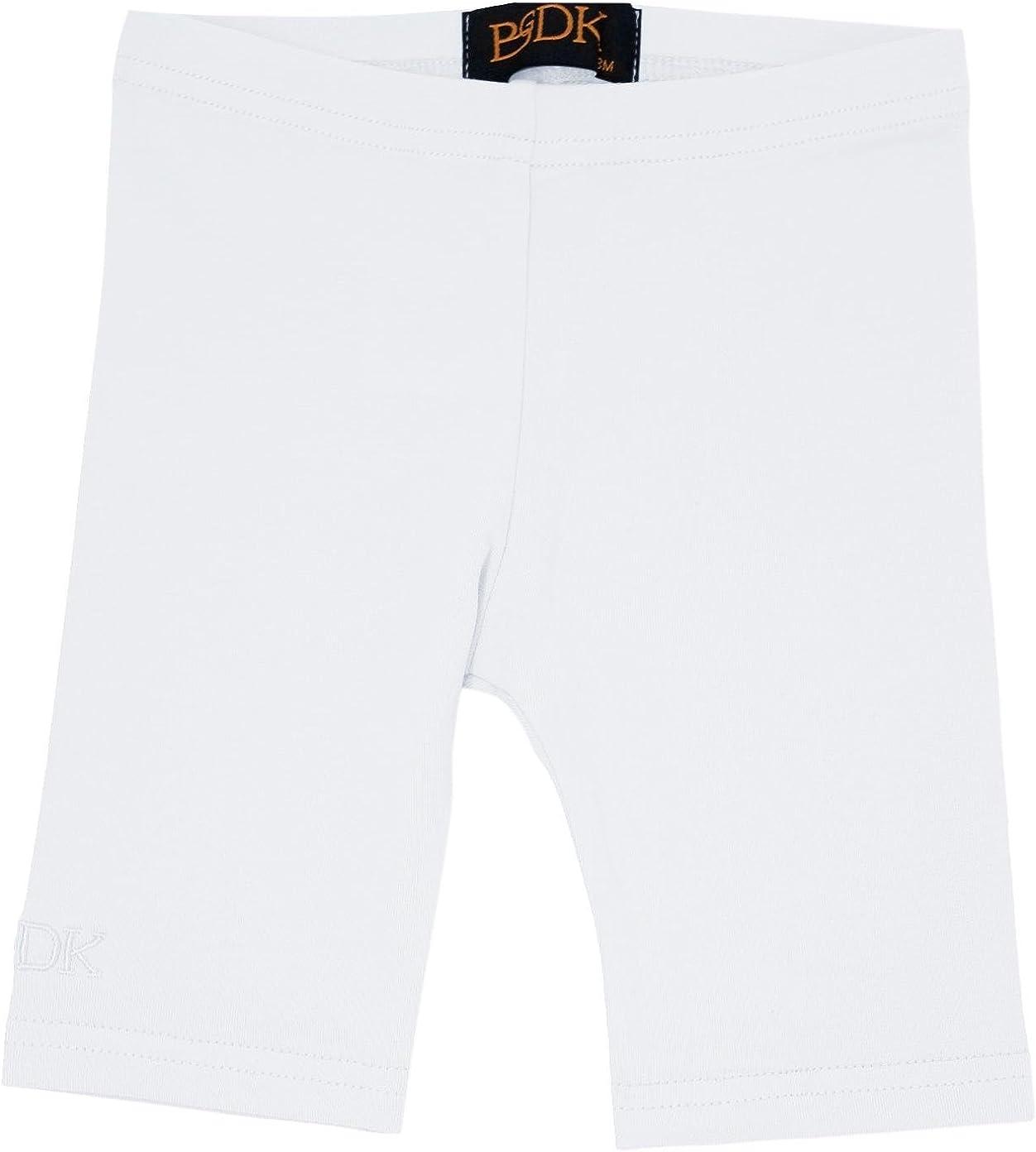 BGDK Unisex Boys Girls Toddler Cotton Short Leggings 24 Months White