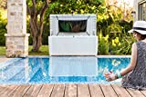 Keter 235178 Sumatra Deck Box with Pool Kit, White