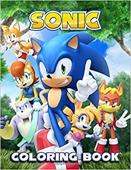 Sonic Coloring Book: 60 Illustrations | Jumbo Coloring Book ...