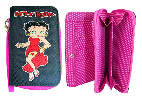 Betty Boop ¡El monedero negro y rosado hermoso, carpeta para ...