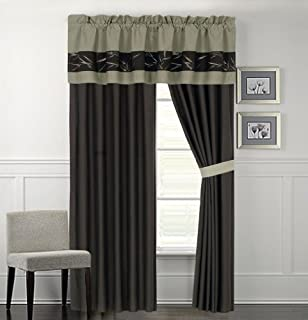 KingLinen Bamboo Embroidered Curtain Set (B00HI4N7V0) | Amazon price tracker / tracking, Amazon price history charts, Amazon price watches, Amazon price drop alerts