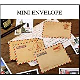Set of 40 Mini Envelope Vintage Style Airmail Kraft Paper 4 different Designs