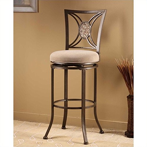 Hillsdale Fabric Bar Stool - Swivel Stool (26 in. Counter Height)