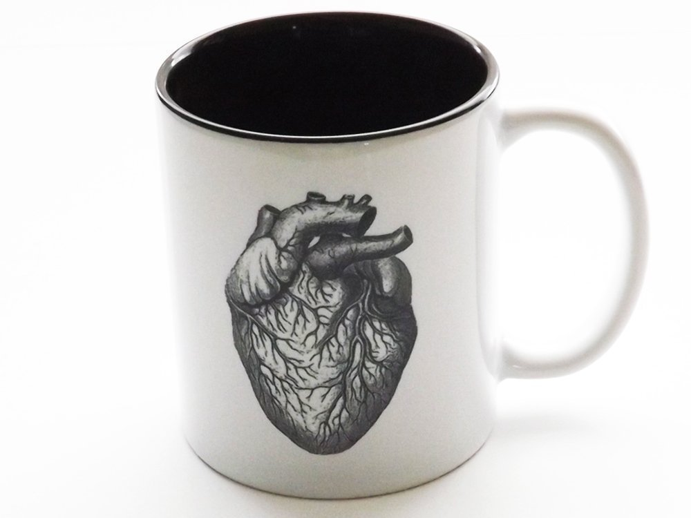 Amazon.com: Anatomical Heart coffee Mug human body anatomy ...