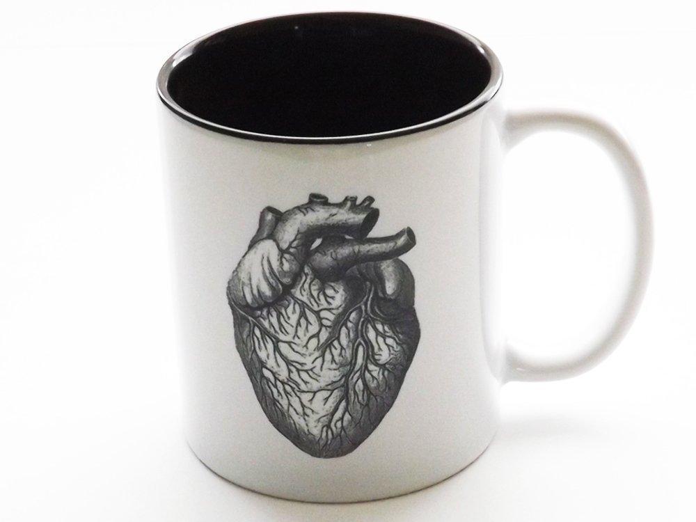 Anatomical Heart coffee Mug human body anatomy cardiology medical office home kitchen decor
