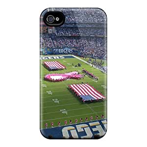 High Quality DaMMeke San Diego Chargers Stadium Skin Case Cover Specially Designed For Iphone - 4/4s