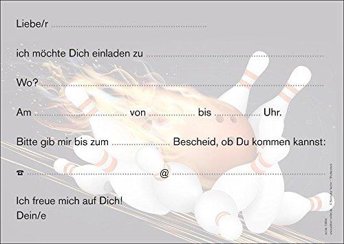 Bowling Einladungen (Set 1): 10 Er Set Bowling Einladungskarten Zum  Kindergeburtstag Oder Zum Bowling / Kegel Abend Von EDITION COLIBRI ©  (10694): ...