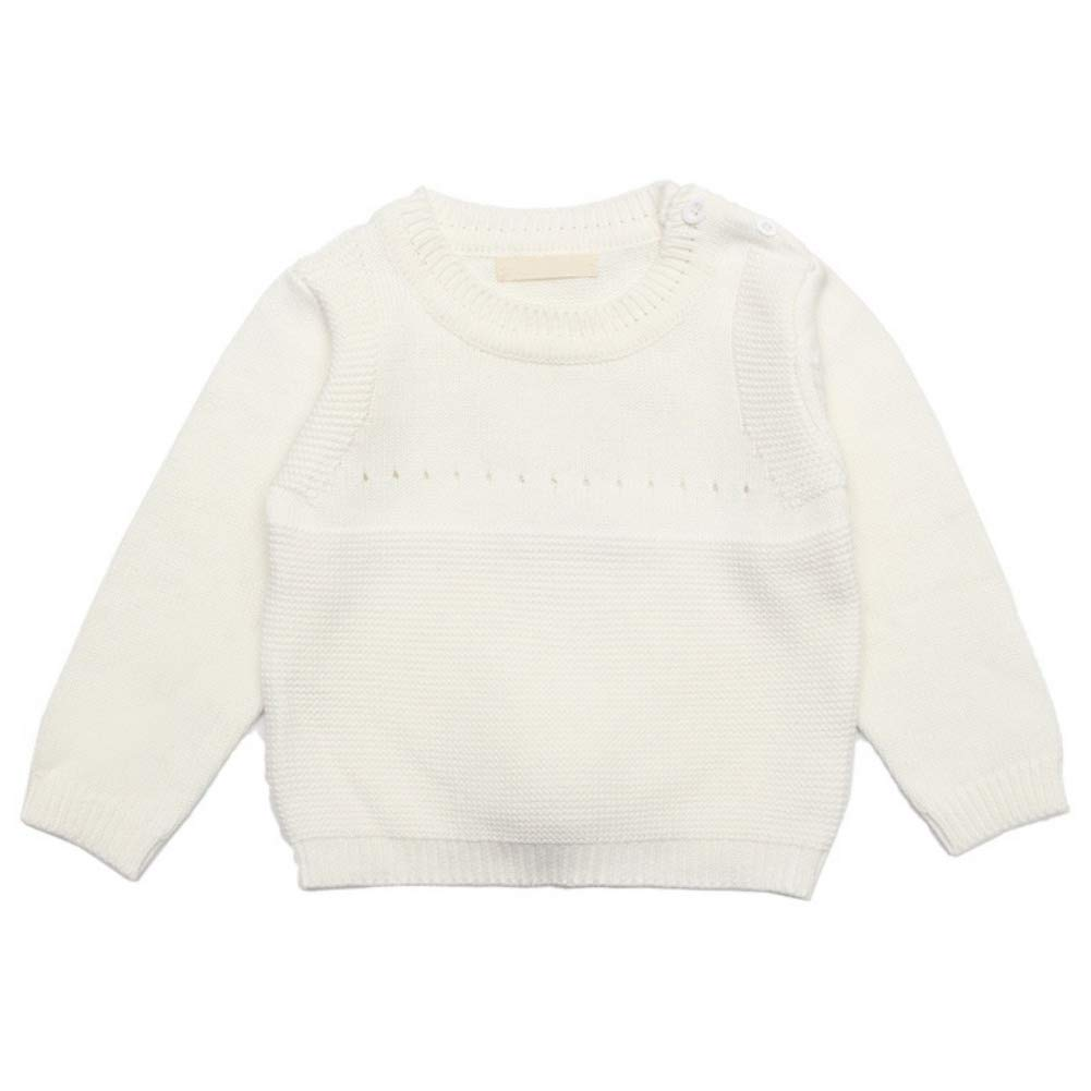 BOBORA Baby Girls Knitted Jumper Pullover Sweatshirts Kids Autumn Winter Long Sleeve Knitwear Sweater with Cute Rabbit BO-UK1061