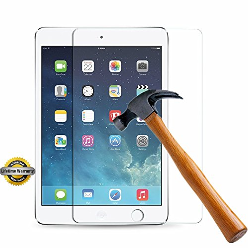 iPad Mini 3 2 1 Screen Protector, SOOYO(TM) Premium Tempered Glass Screen Protector (Shatter-Proof/Bubble Free) for Apple iPad Mini/iPad Mini 2/iPad Mini 3(7.9 inch])[Lifetime - Protector Apple Screen Ipad Mini