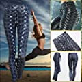 ZooartsIRONWEAVE Leggings Weaving Printed TIE Women Fitness Leggings Workout