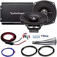Car / Marine Amp Combo: Rockford Fosgate R1-HD2-9813 Prime 140 Watt 2-Channel Marine Car Motorcycle Amplifier and 2x 5.25 Speaker Set Bundle With Scosche 10-AWG OFC Amp Installation Kit (2 Speakers)