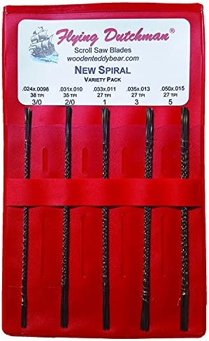 Flying Dutchman New Spiral Scroll Saw Blade Variety Pack