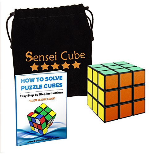 [MEGA SALE Sensei Cube - Best Selling Black Stickerless Speed Cube - With Pouch & Puzzle Cubes Solution] (Diy Pop Star Costume)
