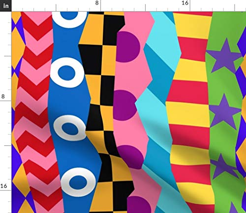 Racing Silks Fabric - Jockey Horse Racing Silks Uniform Sports Athlete Colors Off to The Races Horses Horse Racing by Elramsay Printed on Modern Jersey Fabric by The Yard - Silk Knit Jersey Fabric