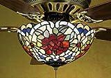Tiffany Renaissance 3 Light Ceiling Fan Light