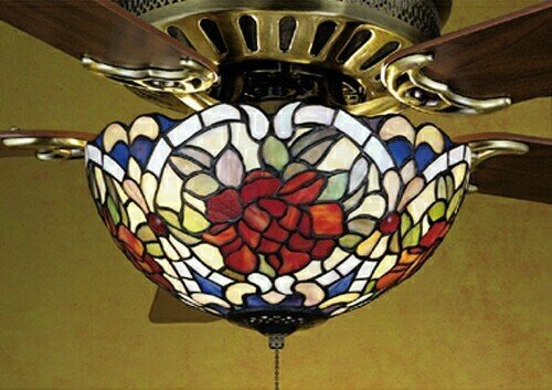 Tiffany Renaissance 3 Light Ceiling Fan ()