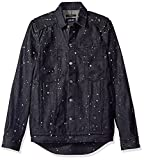 Publish Brand Inc. Men's Koby Paint Splattered Button Down Shirt, Indigo, X-Large