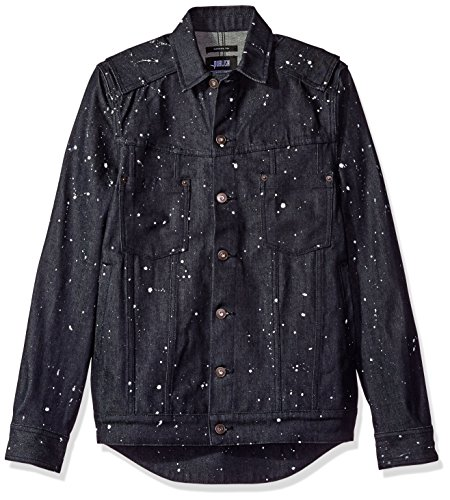 Publish Brand Inc. Men's Koby Paint Splattered Button Down Shirt, Indigo, X-Large by Publish