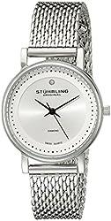 Stuhrling Original Women's 734LM.01 Ascot Casatorra Elite Stainless Steel Watch with Diamond