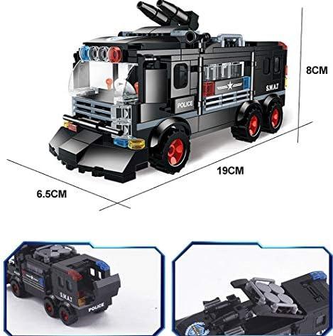 Modbrix 1222 – SWAT Police Voiture d\'équipe avec figurines de soldats SWAT et armes