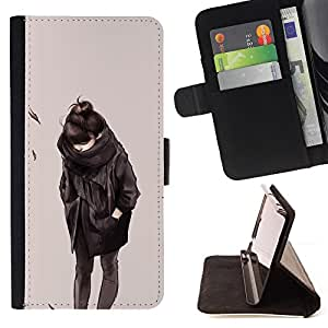 Jordan Colourful Shop - Emo Girl 2 For Apple Iphone 5C - Leather Case Absorci???¡¯???€????€????????????&