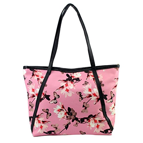 Shoulder Fashion Leather Messenger Women Flowers Pink Bags Handbag Sunfei TvczpPWw7