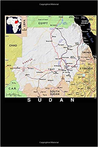 Modern Day Color Map of Sudan in Africa Journal: Take Notes, Write ...