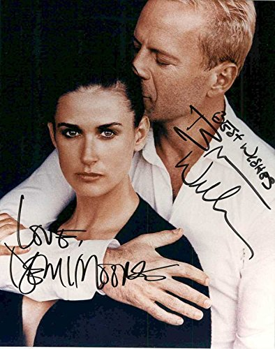 Bruce Willis & Demi Moore Signed Autographed Glossy 8x10 Photo - COA Matching Holograms