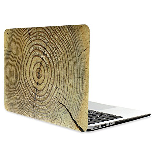 Masino Hard Case Cover For Macbook Air 13   A1369 And A1466  Plus A Free Masino Silicon Keyboard Cover As A Gift  Macbook Air 13  A1369 And A1466  Wood Brown Cobweb