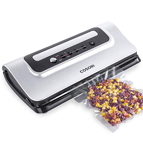 COSORI Vacuum Sealer with Built-in Bag Cutter, Automatic Vacuum Sealer Machine Food Saver, Starter Bags & Air Suction Hose, Dry & Moist Food Modes, UL/ETL Listed, 2 Year Warranty