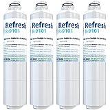 Refresh Replacement for Samsung DA29-00020A, DA29-00020B, HAF-CIN/EXP, 46-9101 Refrigerator Water Filter (4 Pack)