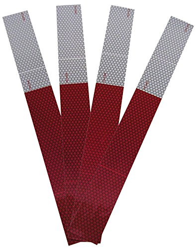 Blazer International Trailer & Towing Accessories Blazer B280RW Red/White Conspicuity Tape - 2 X 18-Inches - 1-Pack of 4 Strips