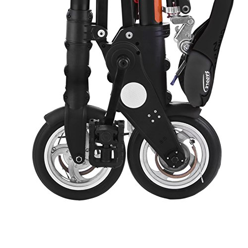 VEVOR Foldable Mini Bike 8 Inch Folding Bike Aluminum Adjustable Foldable Bicycle Full Suspension 12 Mile/h Speed Shimano Gears Mini Bike