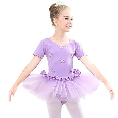 1170204d5462b アイボレオ(Aibrou)ガールズ・女の子 バレエ衣装 チュール付き 長袖 ダンス衣装 バレエ練習