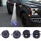 2013 ford raptor accessories - Car Side mirror puddle lights projector ghost shadow puddle logo light compatible for Ford F150 FX4 SVT Raptor 2009-2014year with Raptor projection logo for ford raptor f150 puddle lights