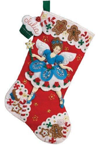 Bucilla Christmas Stocking Kits.Bucilla Felt Applique Christmas Stocking Kit Fairy Sweets