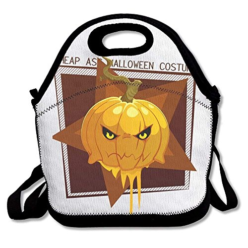 Cheap Ass Halloween Costume Pumpkin Insulated Lunch Bag Outdoor Picnic Tote Lunchbox for Men -