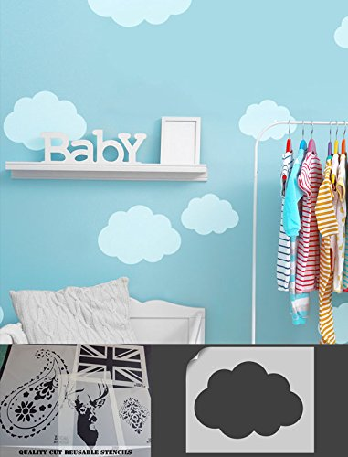 cloud stencil home decorating wall painting nursery sky theme