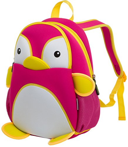 Kids Backpack, icci [Cute] Kids Backpacks Girls Boys Backpacks Best [School] [Hiking] [Travel] Sidekick Bags, Cute Penguin Pack Backpacks, Hot Pink