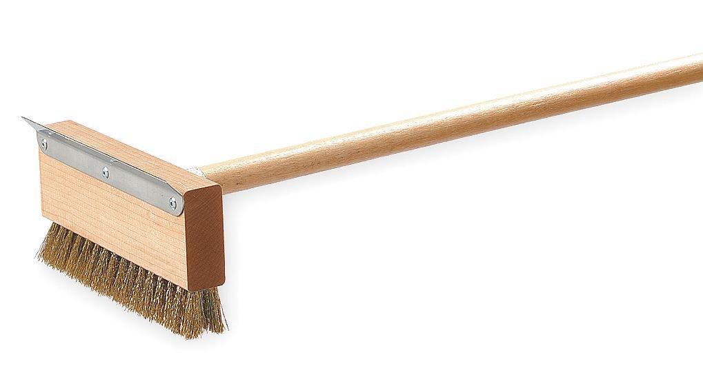 Oven Brush and Scraper, 42'', Brass Wire
