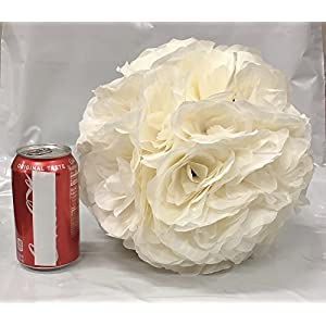 MicroMall 9.84 Inch Romantic Rose Pomander Flower Balls for Wedding Centerpieces Decorations Multicolour (Wine Red) 2