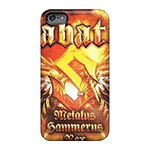 Shock Absorbent Hard Phone Case For Iphone 6plus With Support Your Personal Customized HD Manowar Band Image KevinCormack