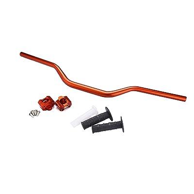 "PRO CAKEN 7/8"" to 1-1/8"" Fat Handlebar Conversion Kit with Grips Motorcycle Handle Bar Upgrade 22mm to 28mm CRF CR YZ WR KX KLX RM RMZ RMX DRZ (Orange): Automotive"