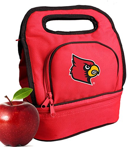 Broad Bay University of Louisville Lunch Bags Two Section Insulated Louisville Cardinals Lunch Bag (Louisville Cardinals Lunch)