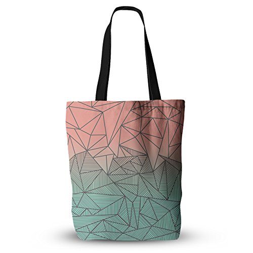 KESS InHouse Everything Tote Bag 13 Inch x 13 Inch Fimbis Bodhi Rays Geometric Illustration, Multicolor