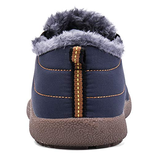 Sneakers On Ankle Slip Womens Soloblac Snow Mens Winter Boots Outdoor Waterproof Fur Lining Blue Booties OFxnHxwZI