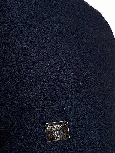 Indicode Homme Coat Trenchcoat Manteau en Laine Brandan Navy M
