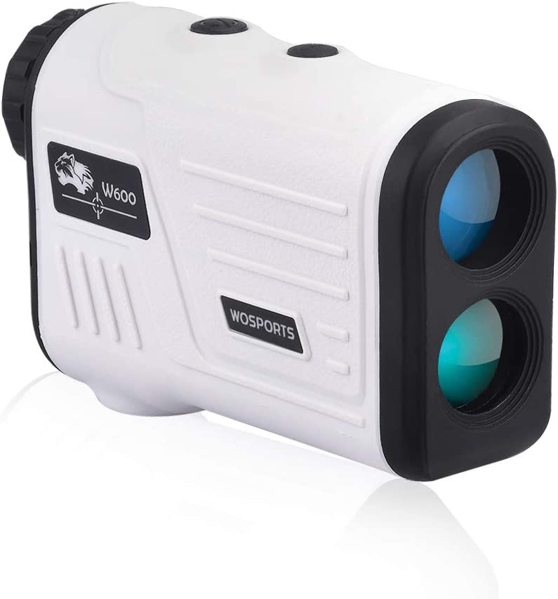 WOSPORTS Golf Rangefinder, Laser Range Finder with 650 Yards,Flag Acquisition Technology, Pulse Vibration, Distance Continuous Scan Speed W600A
