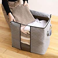 Hileny Large Capacity Clothes Storage Bag Organizer with Reinforced Handle Thick Fabric for Comforters, Blankets…